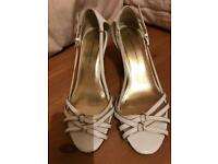White and gold sandals by Dorothy Perkins size 6