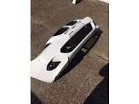 BMW, White, 5 Series, M Sport, Facelift, 2009, Front Bumper,Sensors, Foglights