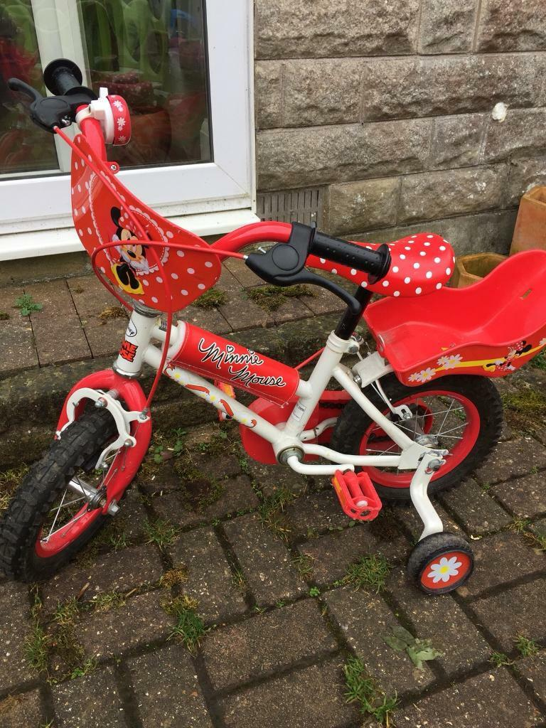 Toddlers Minnie Mouse bike