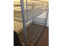 Silver bunk beds only 6 months old
