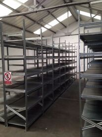15 bays Galvenised SUPERSHELF industrial shelving 2.4m high ( pallet racking /storage)