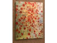 Poppy canvas art