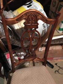 Lovely carved chairs for shabby chic project 4 available