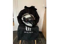 Motorcycle helmet and hoodie