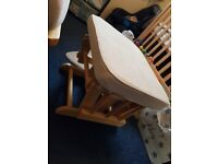 Cream Mothercare nursery chair with footstool