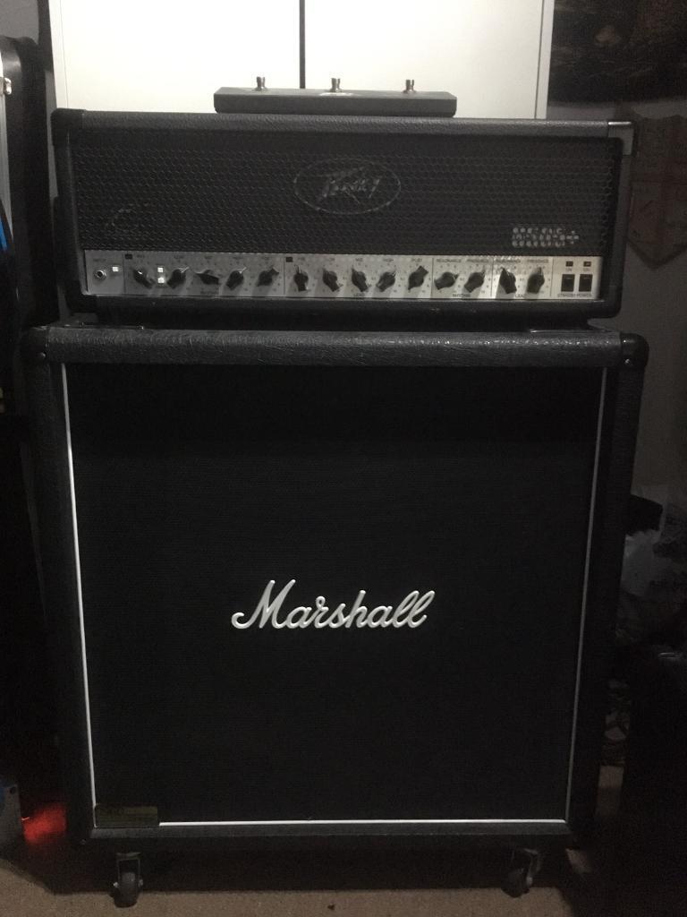 Peavey 6505+ Plus 120W Amp Head And Marshall 1960BV 4x12 Speaker Cabinet - Peavey 6505+ Plus 120W Amp Head And Marshall 1960BV 4x12 Speaker