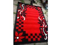 Brand new Beautiful thick red rug size 230 x 160 cm carpet dining room £65