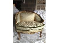 Antique French upholstered love seat
