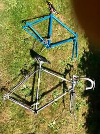 Four Classic bike frames