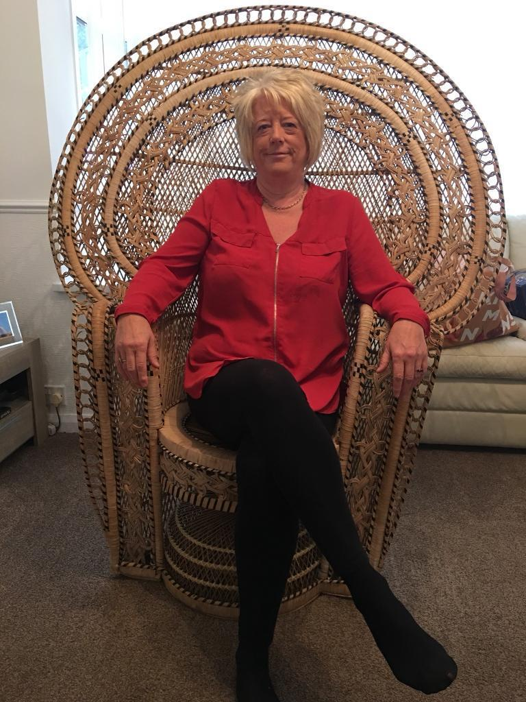 Beautiful big wicker chair really comfy