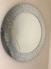 2 x large mosaic glass mirrors