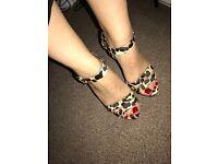 Kurt Geiger leopard print platform heels