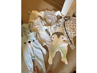 Baby sleepsuits 0-3 months