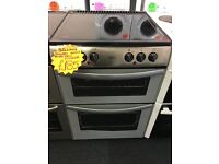 BELLING 60CM CEROMIC TOP ELECTRIC COOKER IN SILIVERC