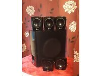 LG sub woofer & 5 speakers