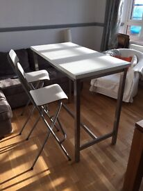 IKEA Bar table and 4 Chairs