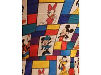 lovely large lined single disney curtain