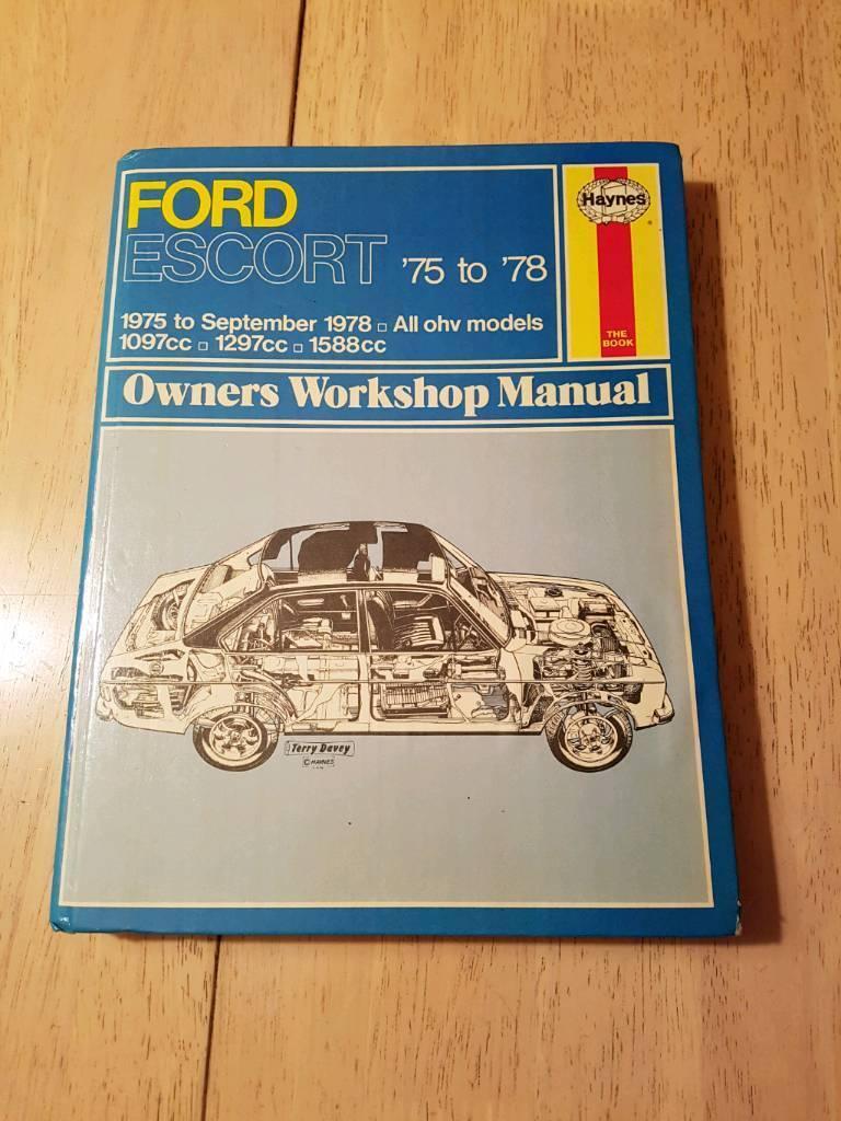 Mk2 Ford Escort 1975 to 1978 onwers workshop manual