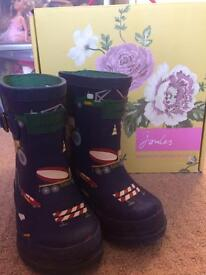 Boys joules wellies