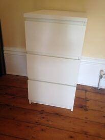 White Ikea Bedside Cabinet