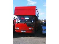 leyland 7.5 ton horsebox 3 horse with living new test drive on car licence good condition