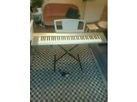 Yamaha NP30 (Silver NP30 76 keys) Portable Grand Keyboard plus pedal good conditon and fully working
