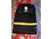 Challenger Black with Yellow Long Sleeved Work Overalls, Size 44, BRAND NEW PACKAGED, Zip Front