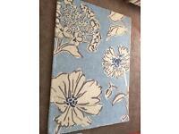 Large Next Rug Blue Floral design