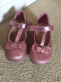 Girls pink glittery shoes