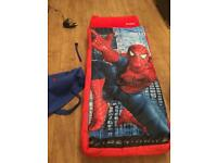 Spider-Man inflatable bed for sleepovers