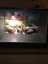 Vivarium-black plastic 2ft by 1 & 1/2ft