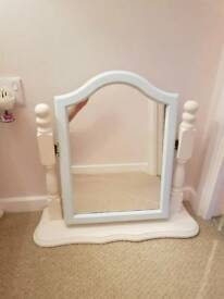 Painted pine dressing table mirror