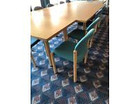 Green Stackable Meeting Chairs