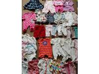 Baby girls clothes bundle size 0-3mths/first size more than 40items