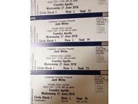 BARGAIN: Jack White tickets x 4 for 27 June