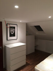 LOFT DOUBLE ROOM IN MODERN HOUSE, SHARE BATHROOM WITH 1 PERSON ONLY, NORTH LONDON, ALL PROFESIONALS