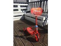 Lightning McQueen tri scooter - VGC - hardly used