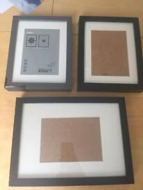 3 x Ikea Ribba picture frames - damaged