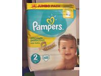 Pampers size2, jumbo pack 68