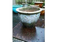 Large Glazed Garden Pot