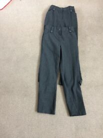 GIRLS GREY SCHOOL TROUSERS aged 9