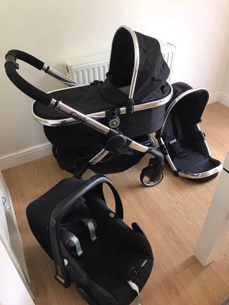I candy peach 2 black magic travel system excellent condition