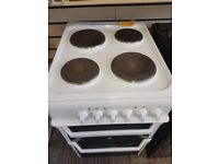 Indesit 50cm electric cooker white