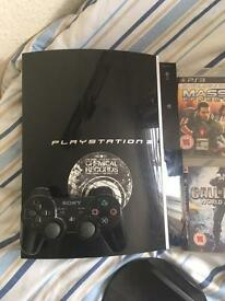 Ps3 80gb Console With 1 Controller And 2 Games