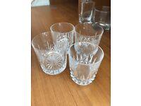 4 x crystal glass tumblers