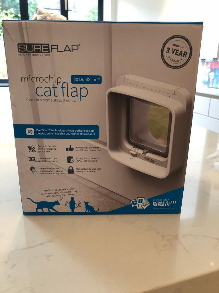 Brand New 45 Sureflap Microchip Cat Flap With Dual Scan In