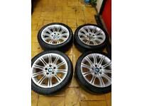 Bmw mv2 alloy wheels genuine 18 inch