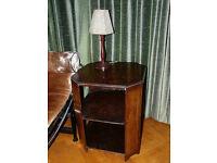 Art Deco vintage octagonal table