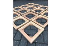 16 bespoke hand made wood artist painter canvas stretcher frames craft hobbie art making job lot