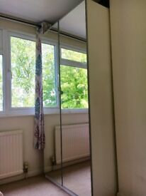 2 Ikea wardrobes, 2 years old , very good condition size 100x60x201 mirrored door